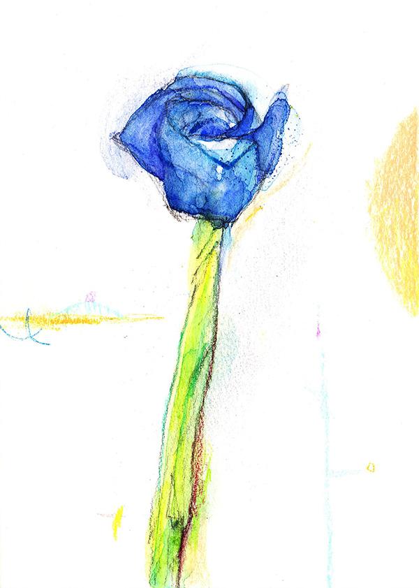 折り紙でつくった一輪の薔薇